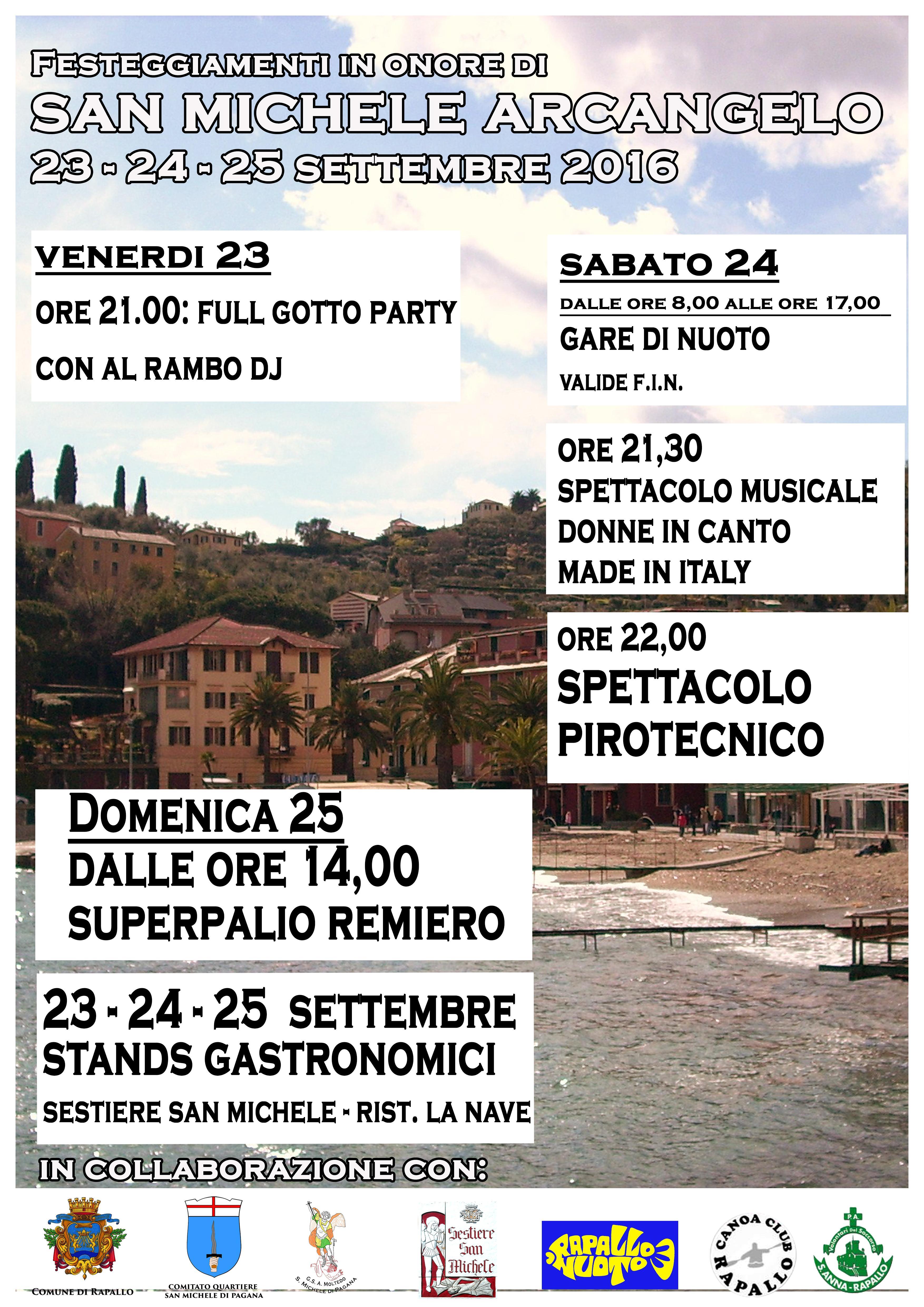 Comune di Rapallo (GE) - FESTA PATRONALE DI SAN MICHELE DI PAGANA