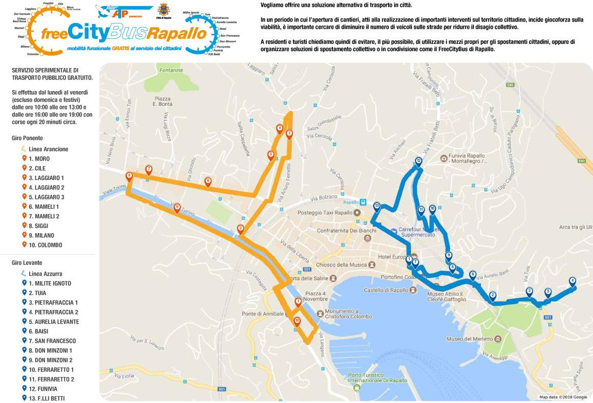 Mappa Percorso Free CityBus