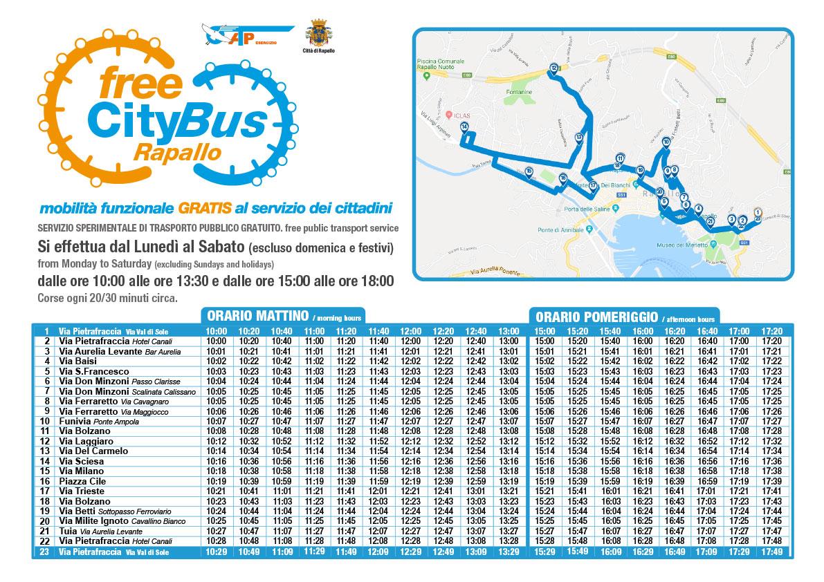 Mappa percorsi FreeCityBus
