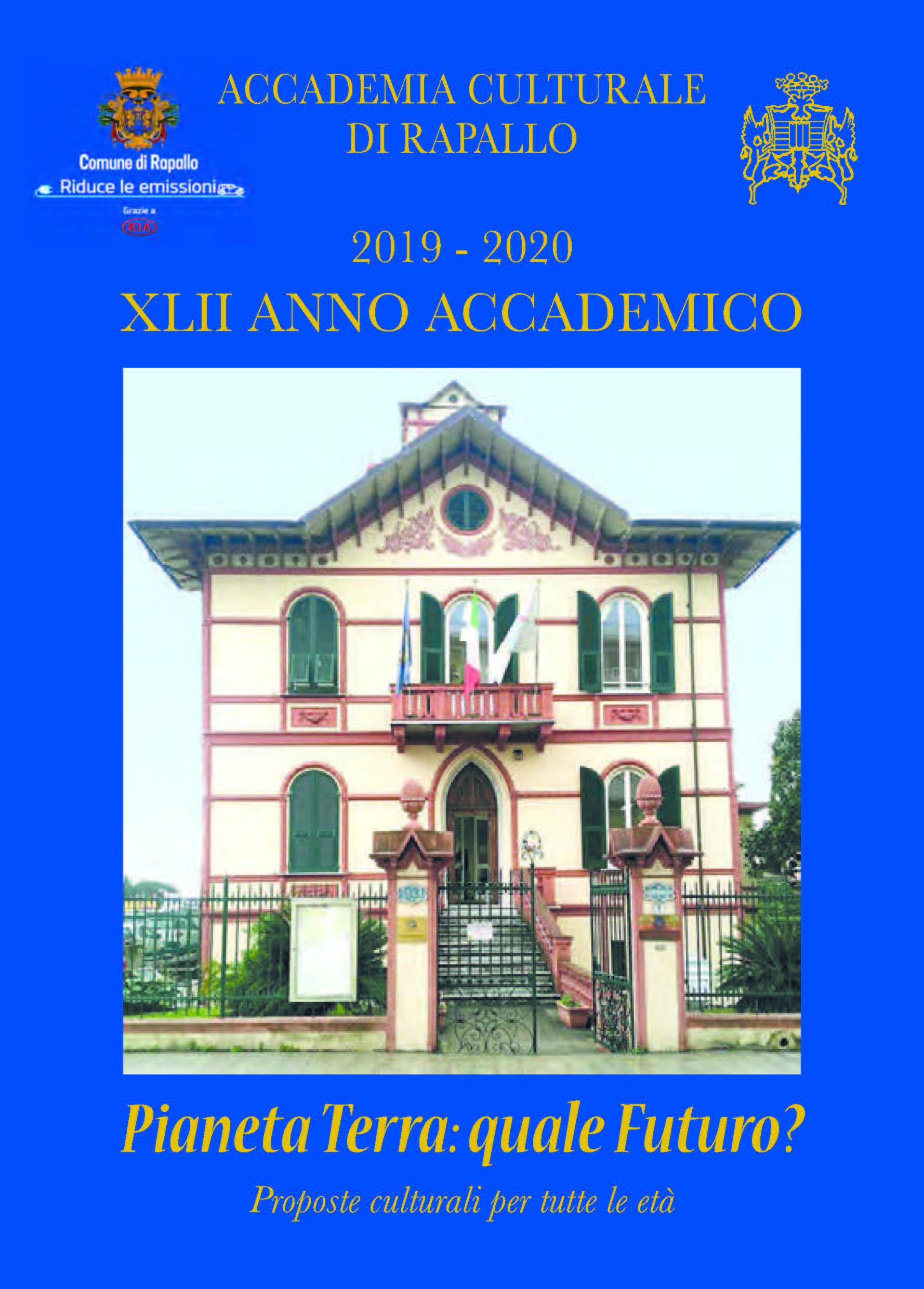 Copertina Programma Accademia Culturale Rapallo 2019/2020