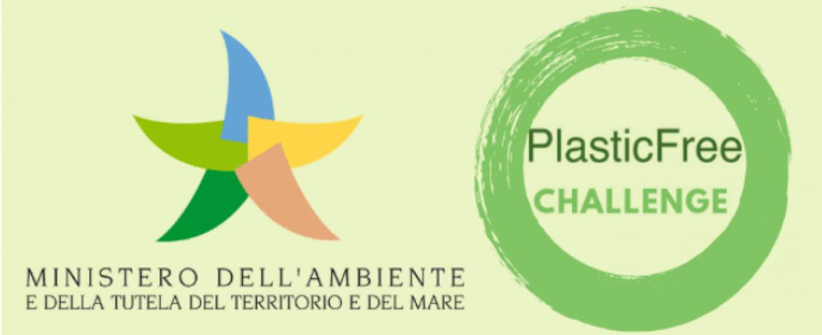 logo Plastic free Ministero dell'Ambiente