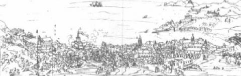 Stampa antica di Rapallo