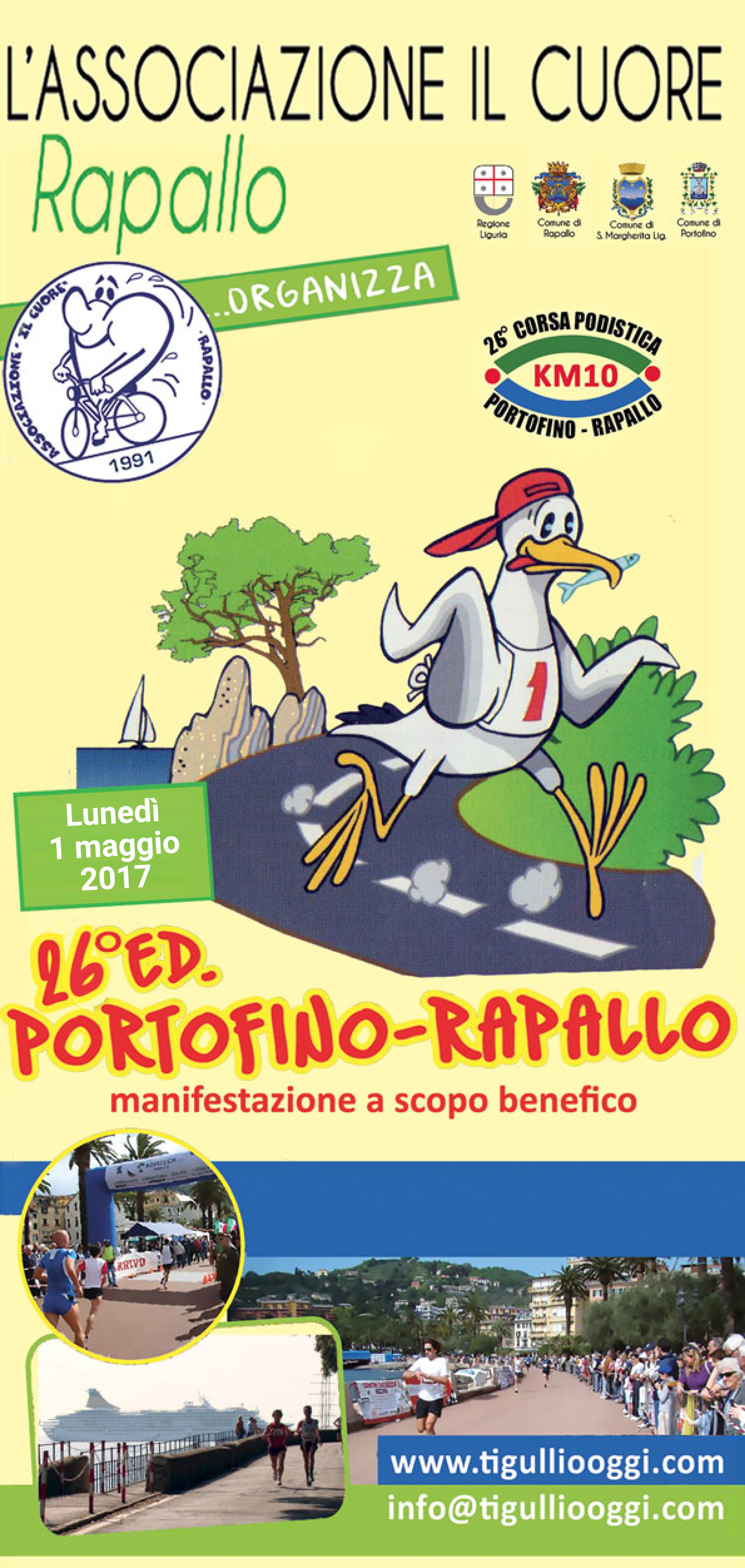 """26a edizione corsa podistica """"Portofino-Rapallo"""""""