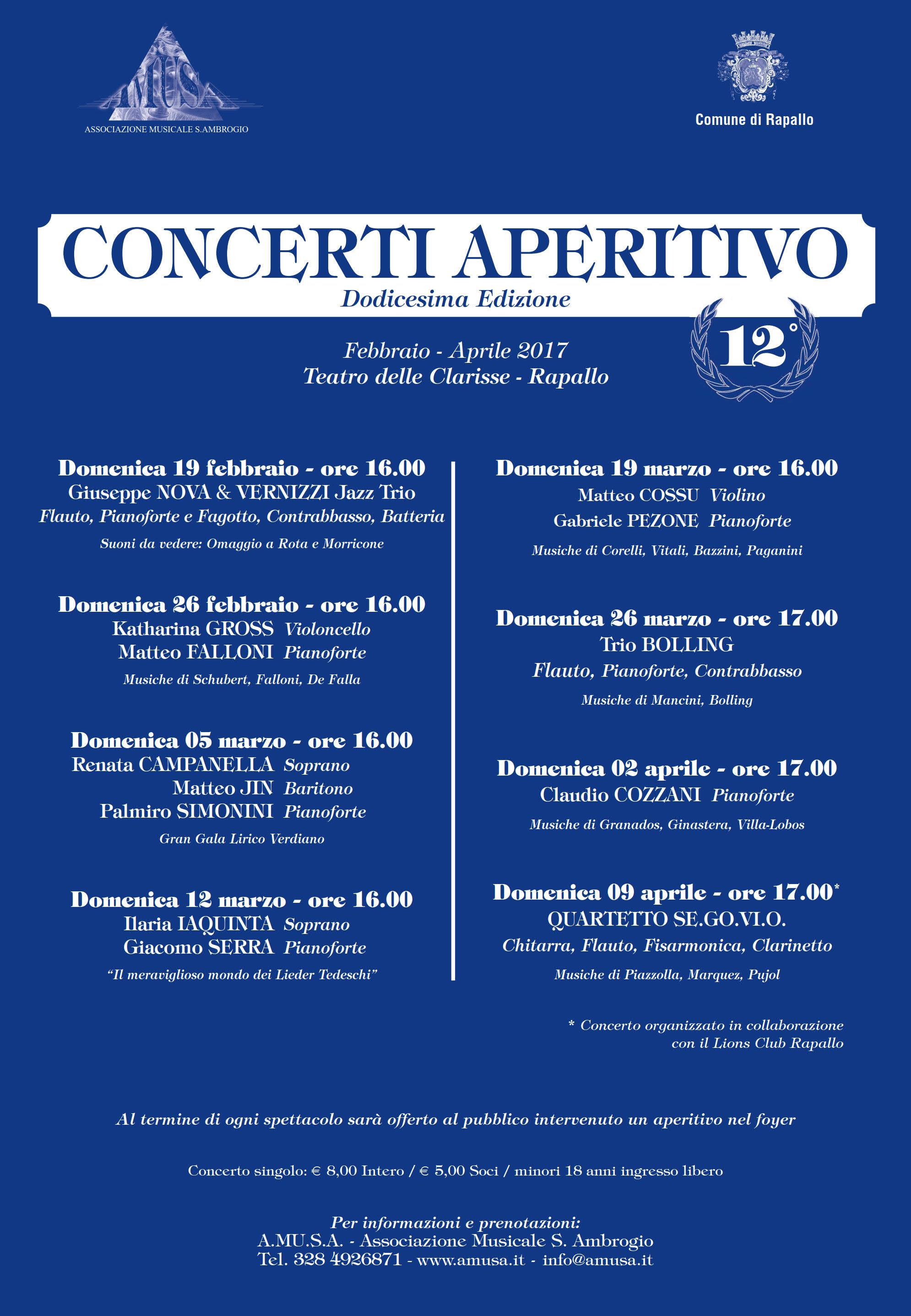 CONCERTI APERITIVO - XII edizione