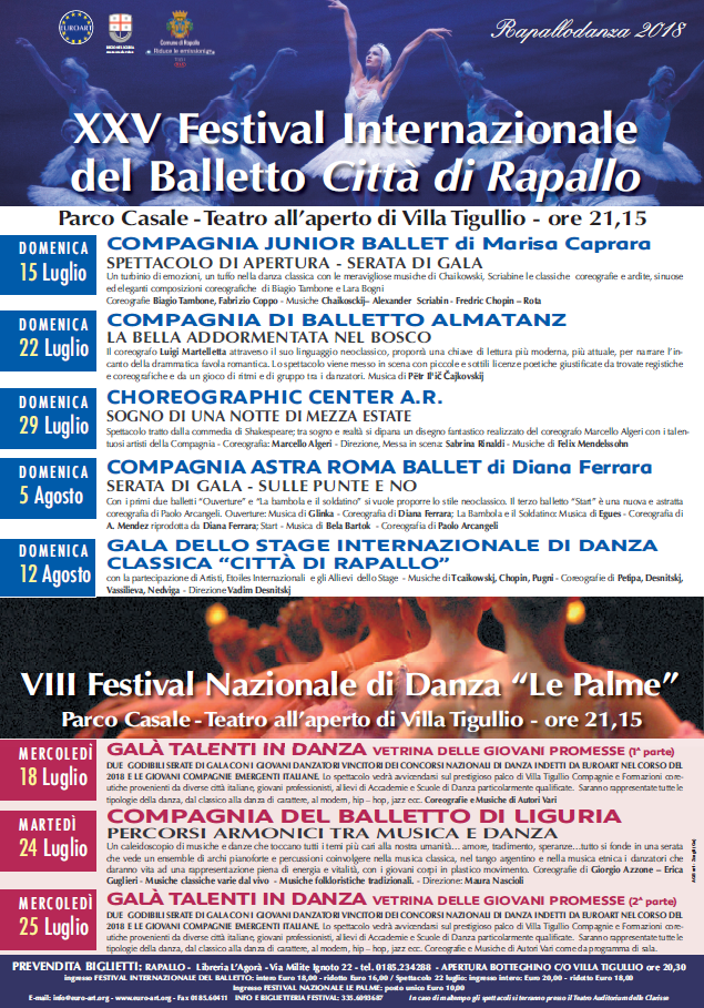 RAPALLODANZA - XXV FESTIVAL INTERNAZIONALE DEL BALLETTO