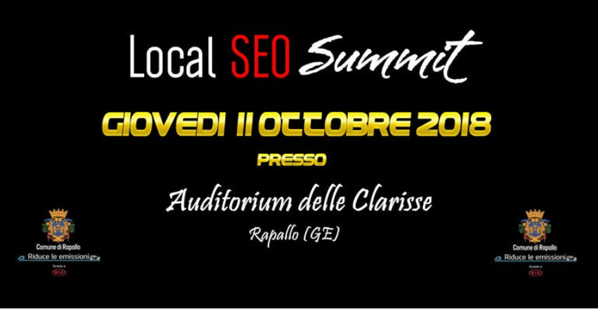 LOCAL SEO SUMMIT - spostato al 18 ottobre