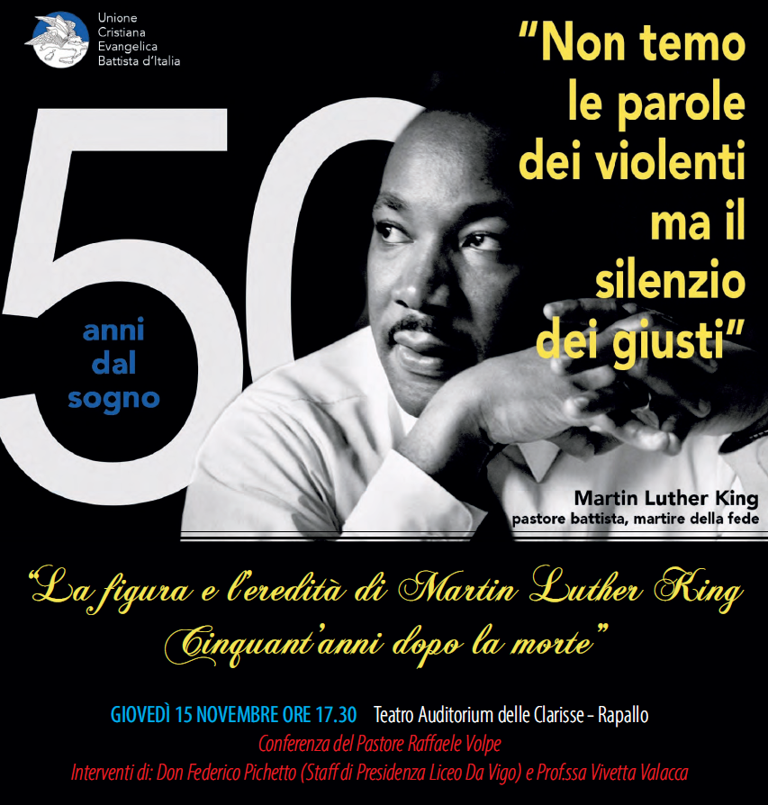 CONFERENZA SULLA VITA DI MARTIN LUTHER KING