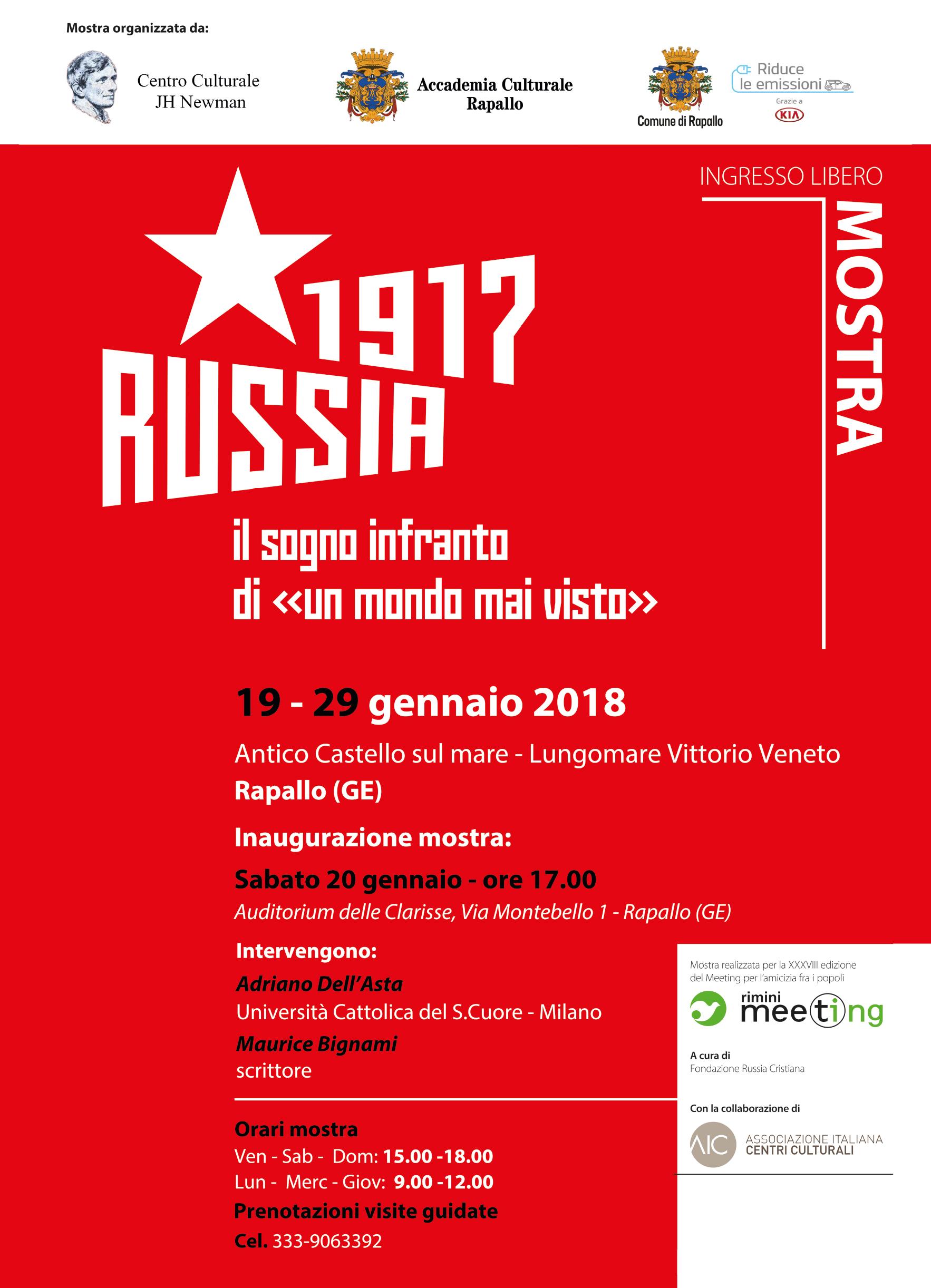 """MOSTRA """"RUSSIA 1917 - Il sogno infranto di """"un mondo mai visto"""""""""""
