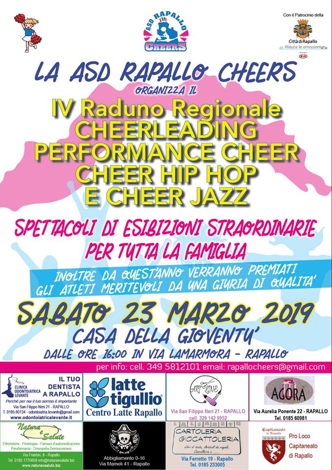 IV RADUNO REGIONALE  CHEERLEADING, PERFORMANCE CHEER - CHEER HIP HOP - CHEER JAZZ