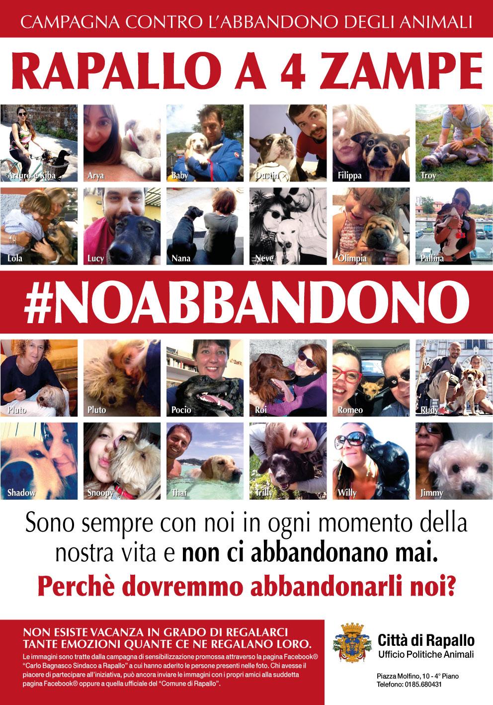 Rapallo a 4 Zampe - Campagna #NoAbbandono edizione 2017