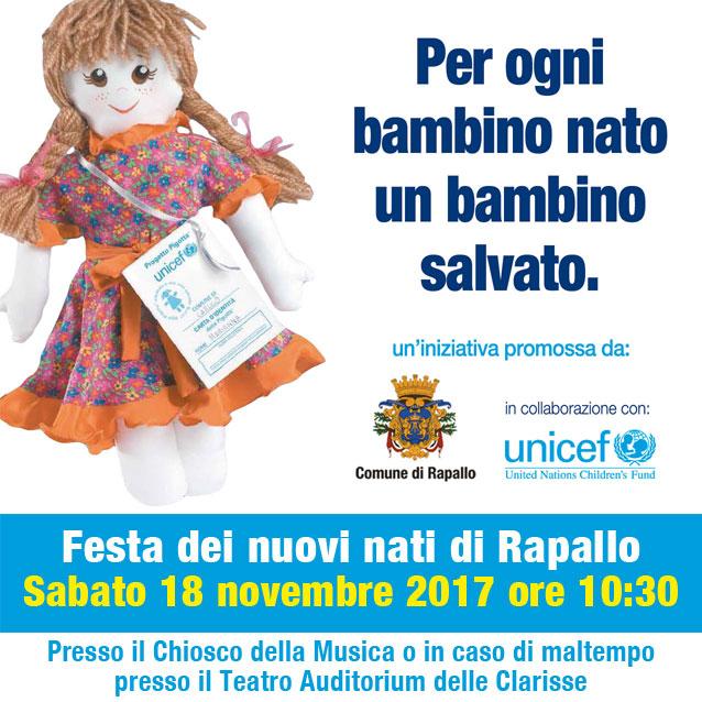 Per ogni bambino nato un bambino salvato - Festa UNICEF e Comune di Rapallo