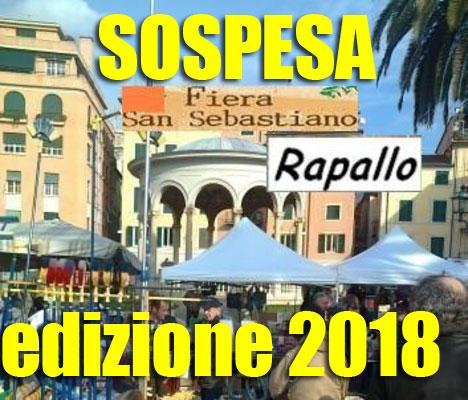 Sospensione dell'edizione 2018 della tradizionale fiera di San Sebastiano.