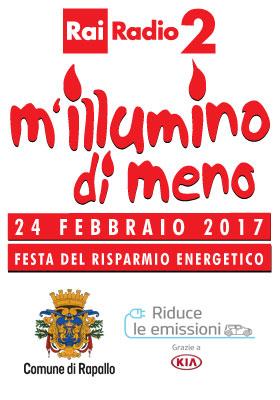 M'illumino di meno - Festa del Risparmio Energetico - 24 febbraio 2017