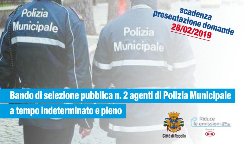 BANDO SELEZIONE PUBBLICA PER ASSUNZIONI TEMPO INDET.AGENTI P.M.